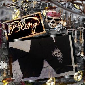 Black Flare Leggings by Bling Beauty